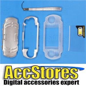 PSP 2000 Metal Case Silicone Cover Screen Protector SLV