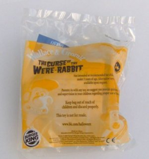 Wallace & Gromit The Curse of the Were-Rabbit Burger King Fast Food Toy Wallace's Shine-O-Matic