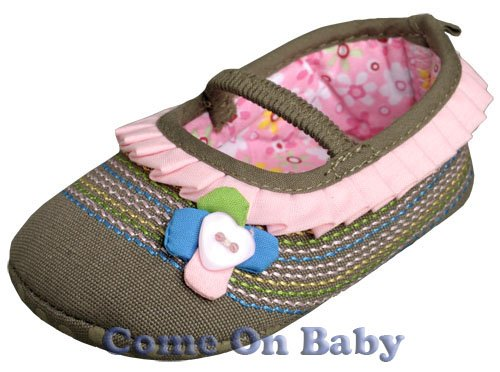 New Infant Girls Toddler Baby Shoes 9-12m (a03701)