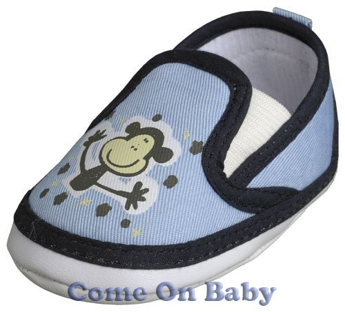 New Infant Boys Toddler Baby Clip-On Shoes 3-6m (c02001)