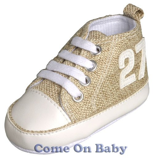 New Infant Boys Toddler Baby Crib Shoes 3-6m (b01103)
