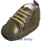 New Infant Boys Toddler Baby Crib Shoes 3-6m (b02601)