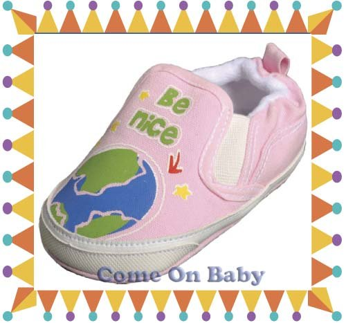 New Infant Girls Toddler Baby Crib Shoes 9-12m (c01601)