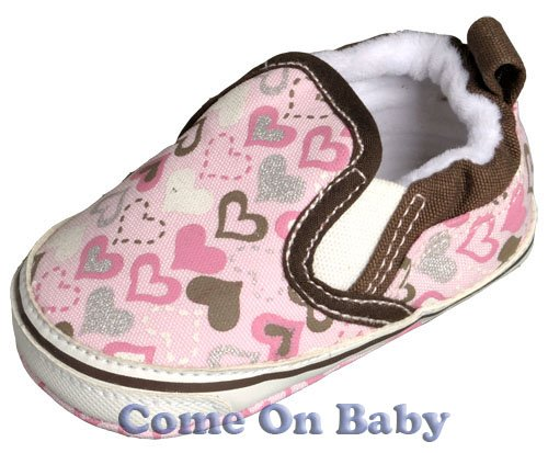 New Infant Girls Toddler Baby Crib Shoes 3-6m (c00801)