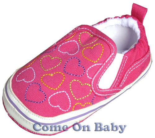 New Infant Girls Toddler Baby Crib Shoes 9-12m (c00901)