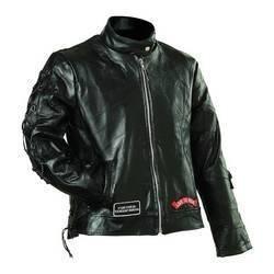 Diamond Plate� Ladies' Rock Design Genuine Buffalo Leather Motorcycle Jacket (Large)