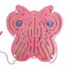 Maze Series Game Toy Butterfly Shape Magnetic Wooden Puzzle