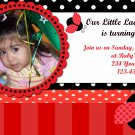 Custom Invitations Personalized DIGITAL Birthday Ladybug Invite