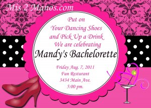 Custom Bridal Shower and or Bachelorette Damask Invitations DIY Printables