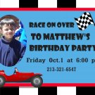 Custom Invitations Personalized DIGITAL Birthday Race Car Invite