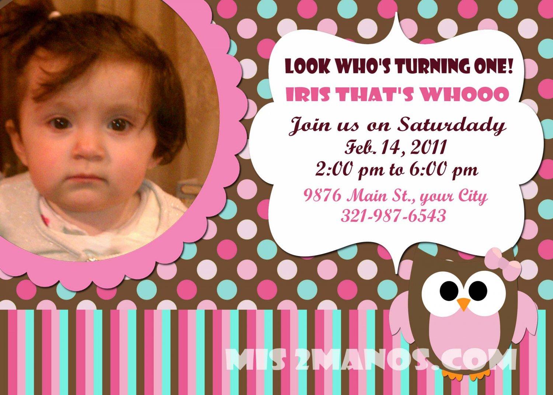 Custom Invitations Personalized DIGITAL Birthday Owl Invite