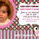 Custom Invitations Personalized DIGITAL Birthday Owl Invite