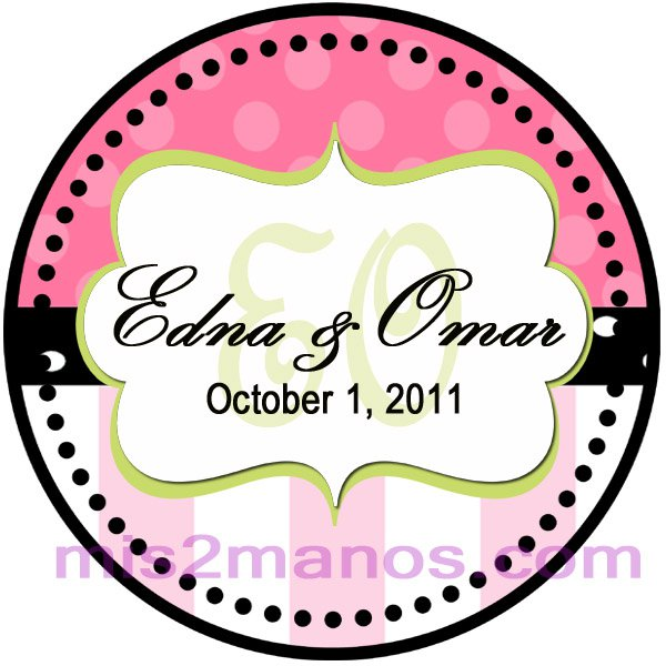 Wedding Label Sticker 2 inch Round Personalized Sticker