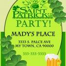 Saint Patrick's Day Invitation diy Printable Shamrock Party Invites Personalized Custom Orders