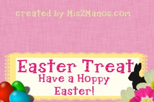 Easter Bunny Treat Bag Topper- Bunnies Love Candy Shop Set of 12