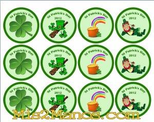 Saint Patrick Day Sticker Labels 2 inch Round Birthday Party Favor Stickers