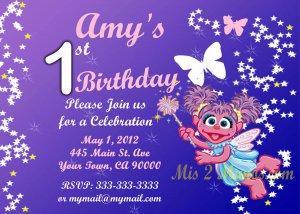 Abby Cadabby Birthday Invitation- Custom Printable Printable Party Invitation diy Print at Home