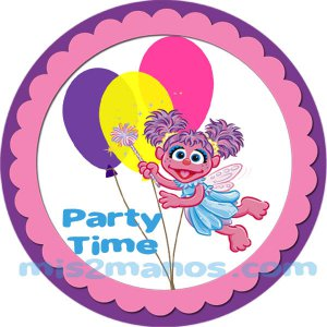 Abby Cadabby Sticker Labels 2 inch Round Party Favor Stickers Set of 20