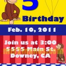 Curious George Birthday Ticket Invitations Printable 3x6, One Hour Printable Photo