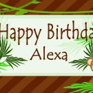 Birthday Banner 2'x4' Indoor/Outdoor: Monkey Custom Design w/Name or Store Logo