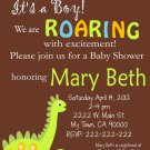 Dino Baby Shower Invitations Printable One Hour Printable Photo Dino Print at Home DIY