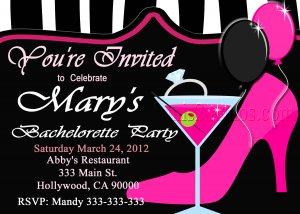 Bachelorette Party Invite DIY Custom Printable Bridal Shower Print at Home