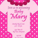 Baby Shower Onesie Girl Invitations Printable Pink Onesie custom order Party DIY Download and Print