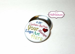 Personalized Buttons Custom Buttons Set of 10
