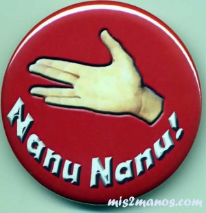 Nanu Nanu Button Badge Mork Hello Button Personalized Buttons and Magnets