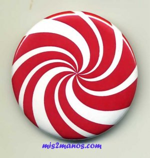 Peppermint Patty Candy Pinback Button Badge Christmas Candy Personalized Buttons