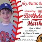 Custom Invitations Personalized DIGITAL Birthday Baseball Invite