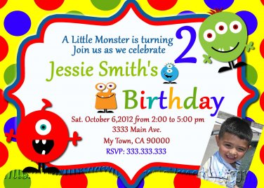 Monster Baby Shower Invites Little Monster Party Invitations Printable Little Monster baby