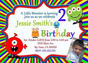 Monster Invites Little Monster Party Invitations Printable Little Monster baby