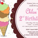 Ice Cream Birthday Ice Cream Shop Party Invitation diy Printable Ice Cream Invitation