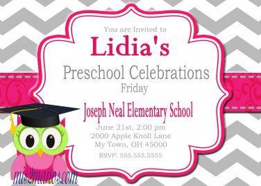 Preschool Graduation Invitations Printable Invites Personalized Graduation