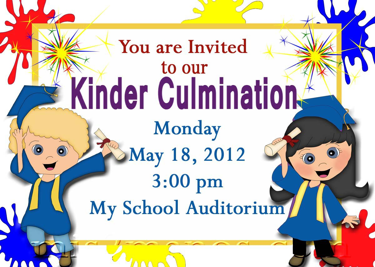 Preschool Graduation Invitations Printable Invites ...