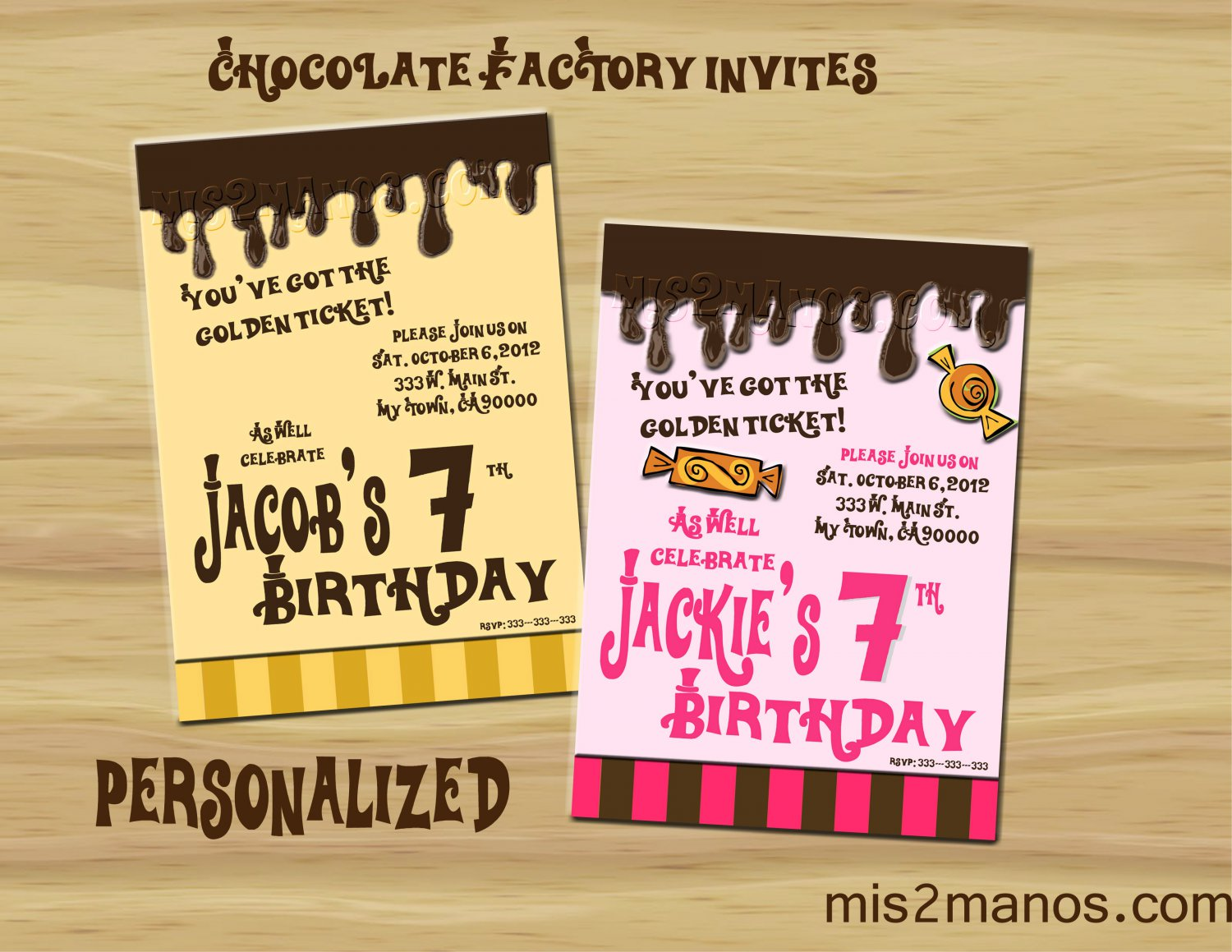 Willy Wonka Inspired Invitation Party Invitations Printable Little ...