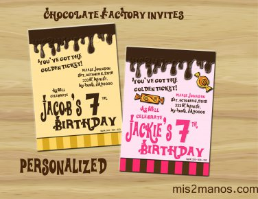 Willy Wonka Inspired Invitation Party Invitations Printable Little