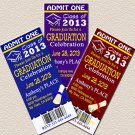 Graduation Ticket Invites Your School Colors diy printable invitation Announcements
