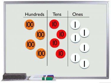 Place Value Disks Magnet Buttons Singapore Math Teacher SET of 64