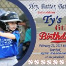 Baseball Invite Custom Invitations Personalized DIGITAL Birthday