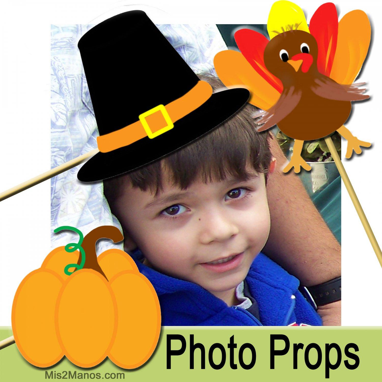 Thanksgiving Holiday Photo Props KIT Set of 6 November Printables