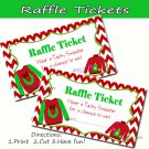 Chevron Tacky Sweater - Raffle Ticket - Baby Shower - Set of 10 Pink Elephant