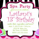 Custom Invitations Personalized DIGITAL Birthday  SPA Zebra Invite