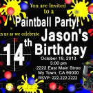 Paintball Birthday Party Invitation Teen Birthday Party, Boy Party Invitation Printable