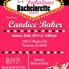 Casino Theme Party, Las Vegas Bachelorette Party Invitation. Retro Pin Girl Lingerie Shower Invite.