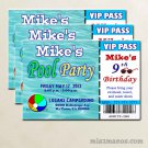 Pool Party Invitations  diy printable invitation Announcements