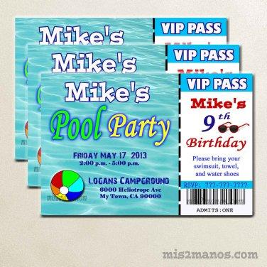 Pool Party Invitations  diy printable invitation Announcements