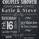 Couples Shower invitation, custom Party invitation, custom chalkboard invite