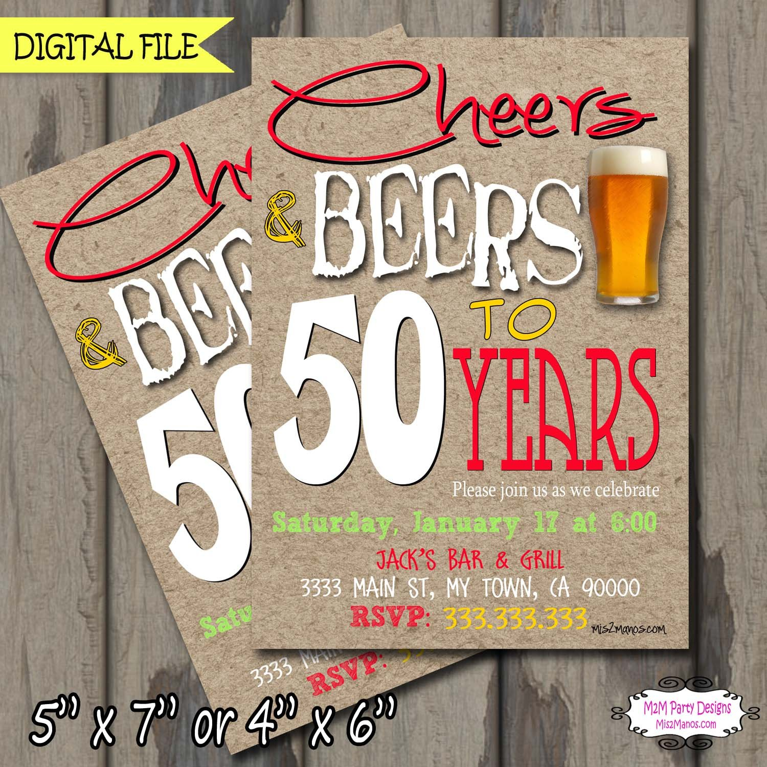 Beer birthday invitation, Cheers and Beers invitation, Adult Birthday Party Invitation